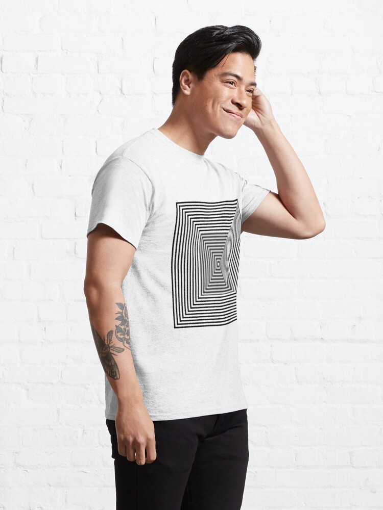 Alternate view of #Simplicity, #design, #illusion, #abstract, square, puzzle, illustration, shape Classic T-Shirt