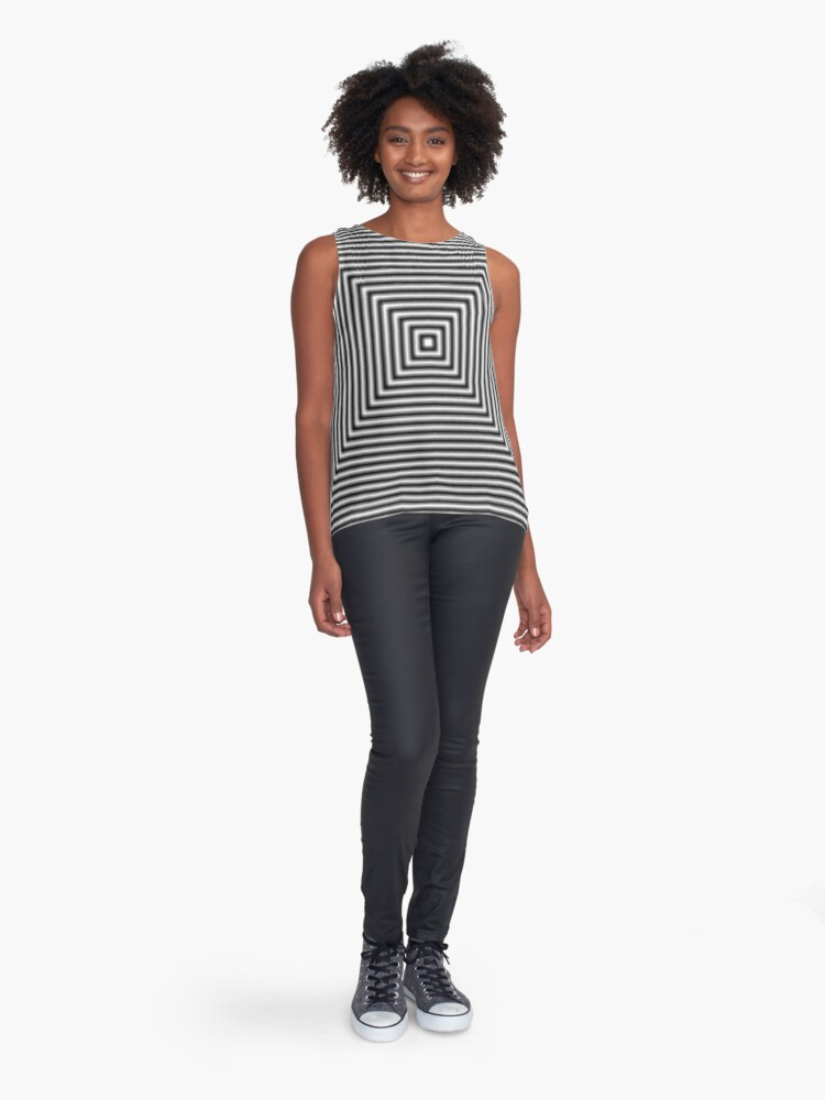 Alternate view of #Pattern, #simplicity, #design, #illusion, abstract, square, puzzle, illustration, shape, art Sleeveless Top