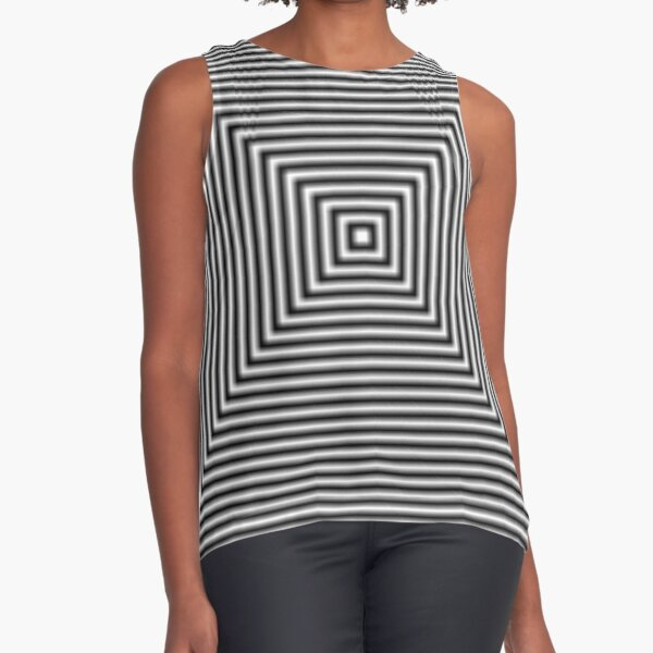 #Pattern, #simplicity, #design, #illusion, abstract, square, puzzle, illustration, shape, art Sleeveless Top