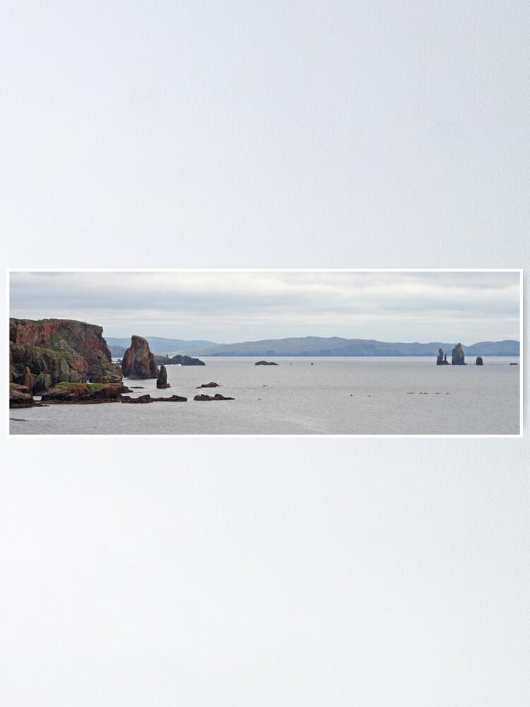 Alternate view of Eshaness panorama Poster