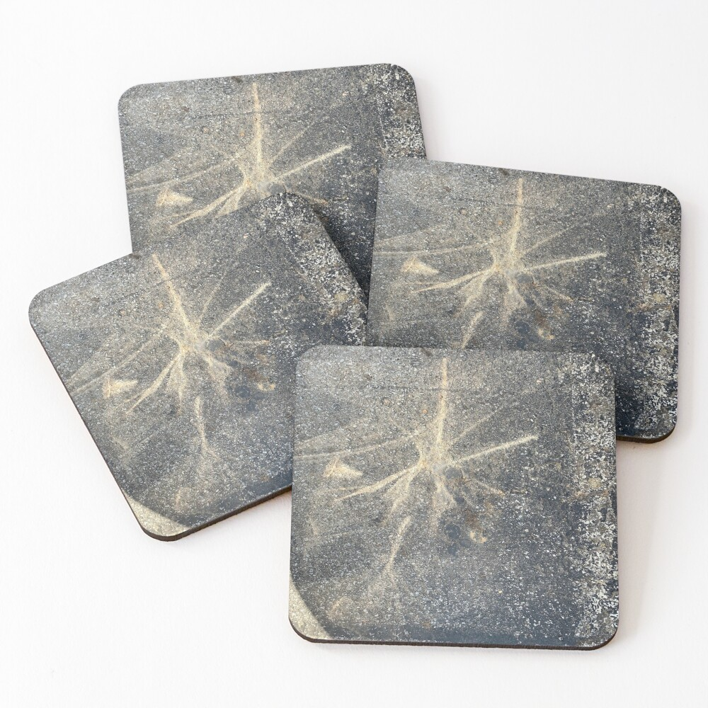 Light Reflection on Asphalt Coasters (Set of 4)