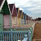 Mersea Beach Huts by Susan E. King