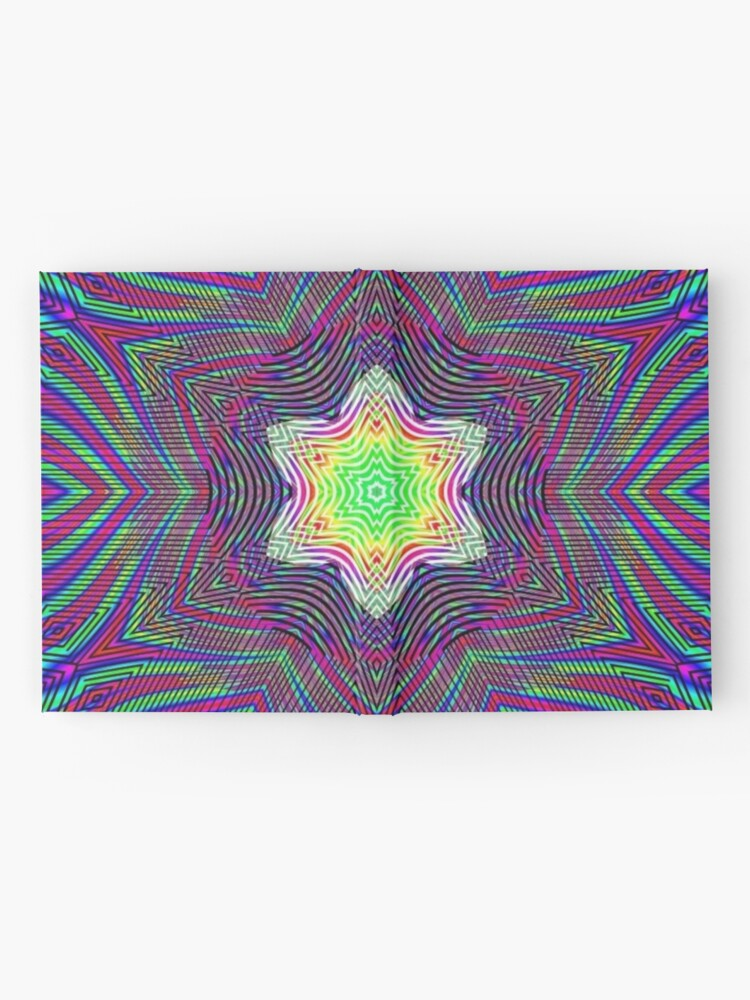 Alternate view of #Shape, #textile, #color #image, textured, retro style, styles Hardcover Journal