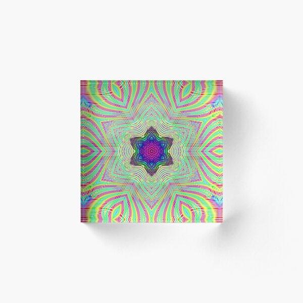 #Abstract, #design, #art, #twist, decoration, illustration, curvy, creativity, shape, psychedelic Acrylic Block