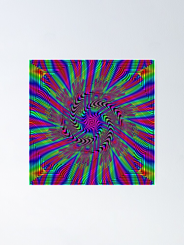 Alternate view of #Pattern, #abstract, #design, #art, twist, decoration, illustration, curvy, creativity, shape, psychedelic Poster