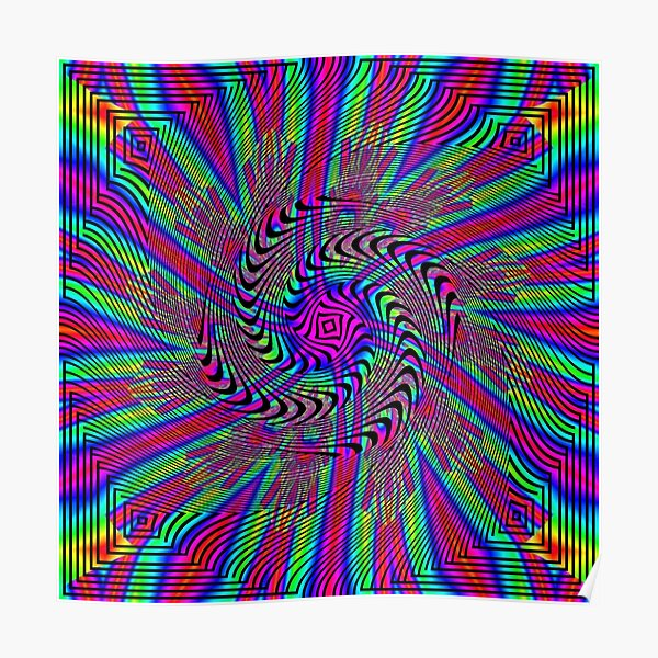 #Pattern, #abstract, #design, #art, twist, decoration, illustration, curvy, creativity, shape, psychedelic Poster