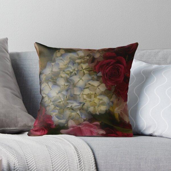 Hydrangea Arrangement II Throw Pillow