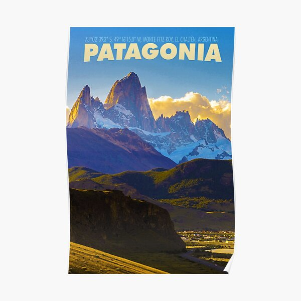 Vintage-Style Patagonia Travel Poster Poster