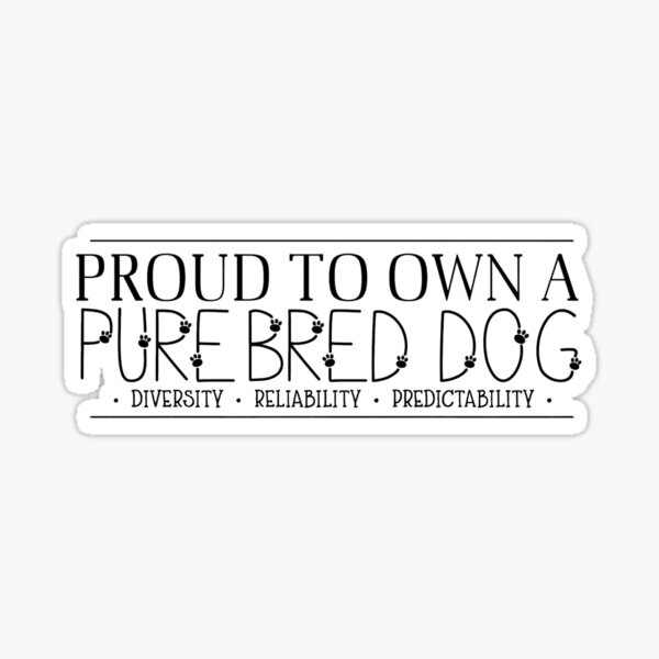 Purebred Sticker