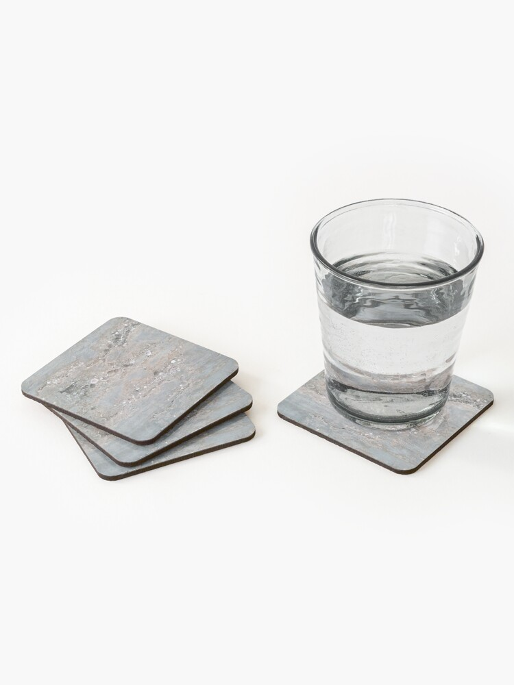 Alternate view of Shell Laden Cement Coasters (Set of 4)