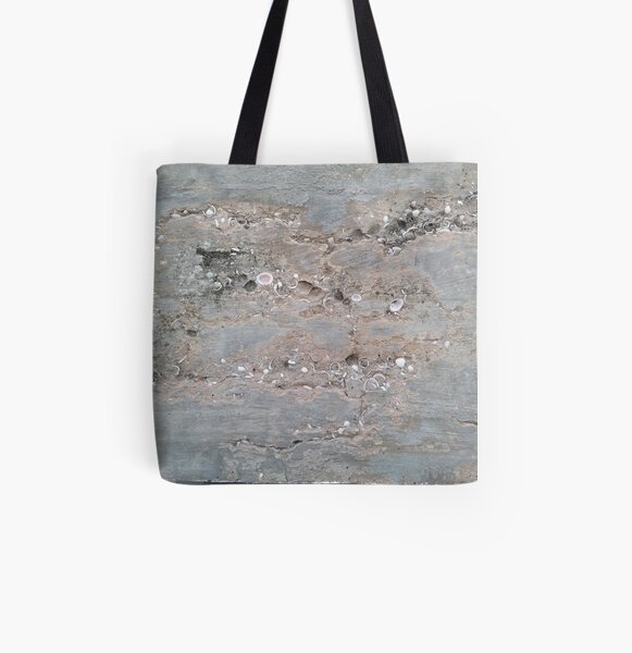 Shell Laden Cement All Over Print Tote Bag