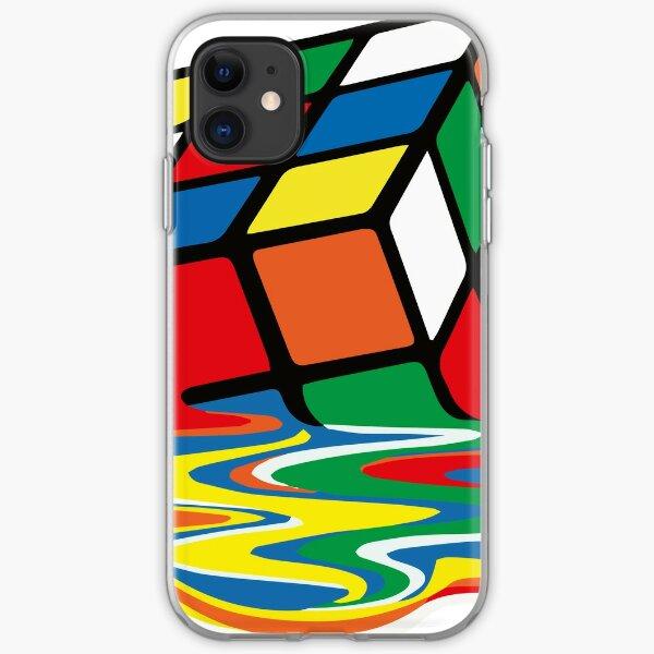 Rubik Cube Melted t Shirt, Original Gift Idea iPhone Soft Case