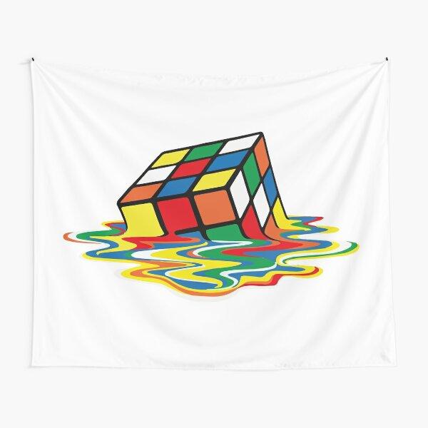 Rubik Cube Melted t Shirt, Original Gift Idea Tapestry