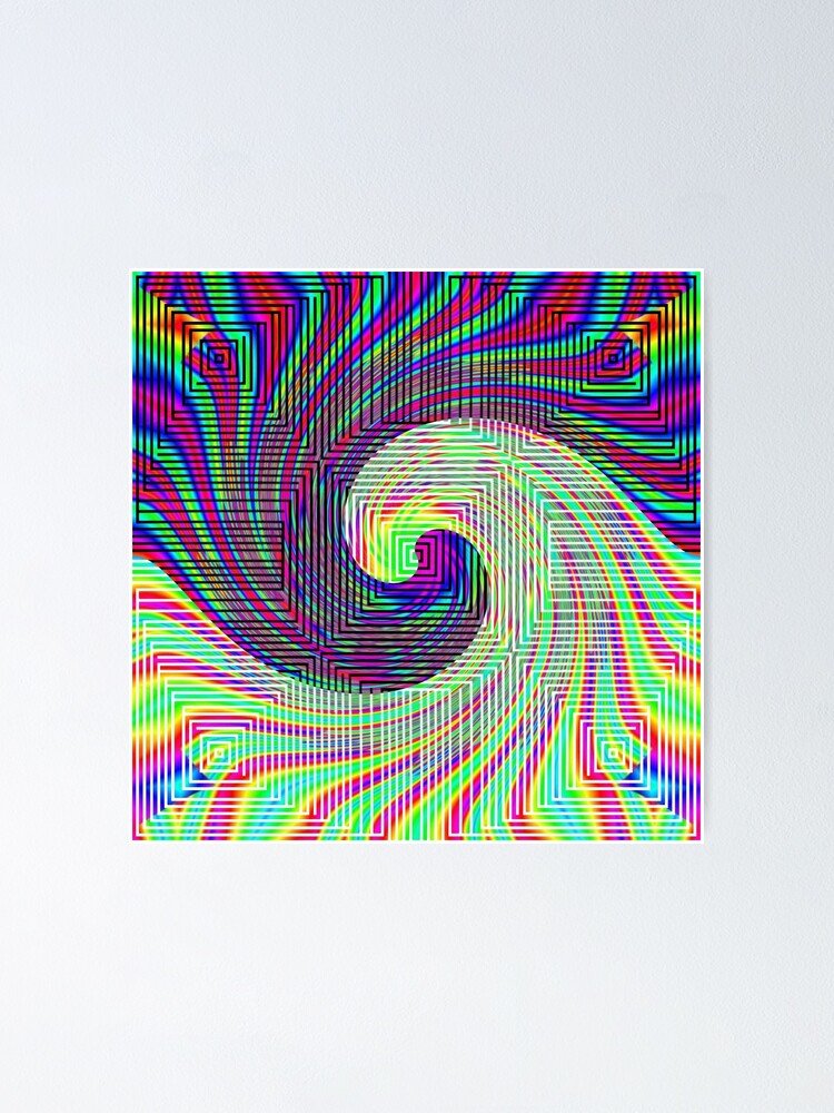 Alternate view of #Ornate, #shape, #textile, #color image, textured, retro style, styles Poster