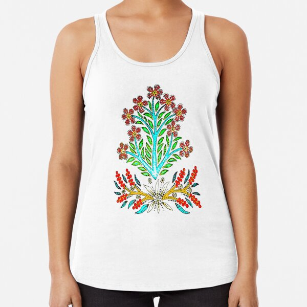Maximum Summer Flowers Racerback Tank Top
