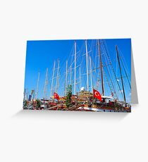 Masts Greeting Card