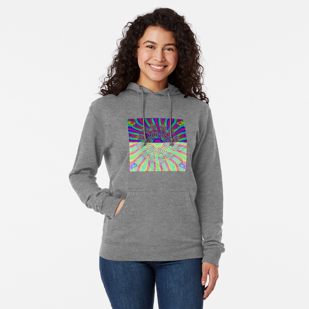 #Pattern, #rainbow, #ornate, #shape, textile, color image, textured, retro style, styles Lightweight Hoodie