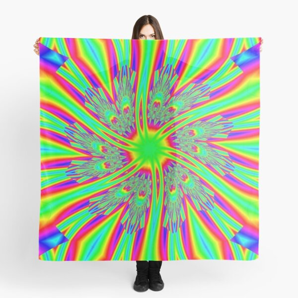 #Decoration, #abstract, #pattern, #rainbow, ornate, shape, textile, color image, textured, retro style, styles Scarf