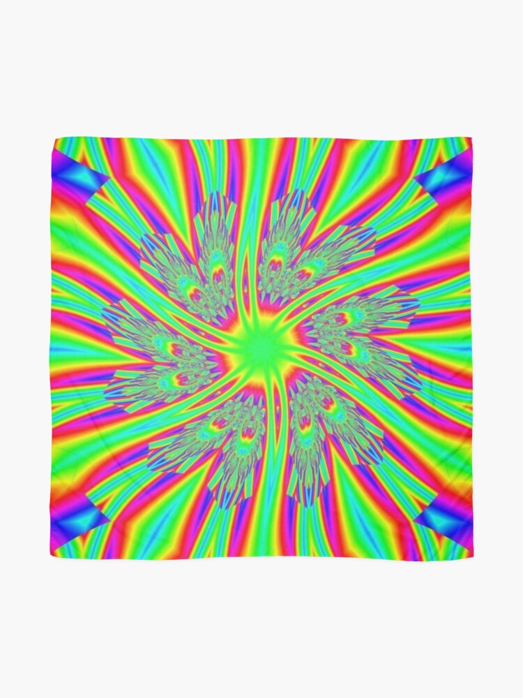 Alternate view of #Decoration, #abstract, #pattern, #rainbow, ornate, shape, textile, color image, textured, retro style, styles Scarf