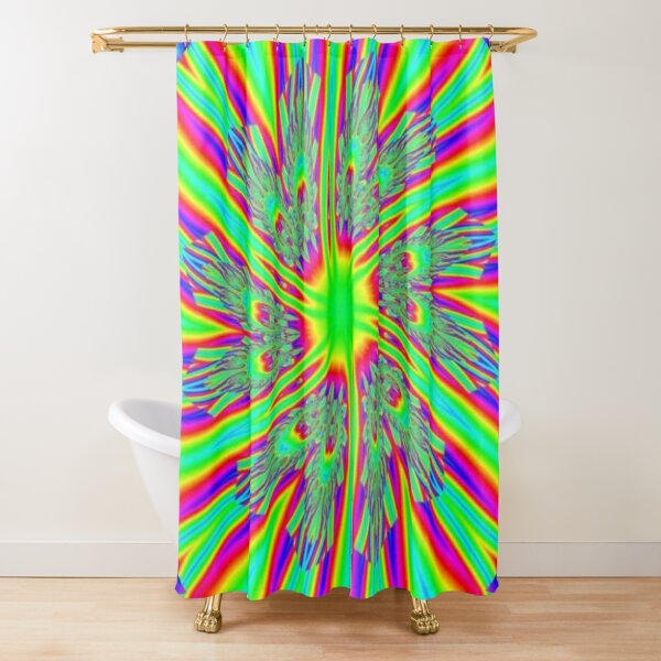 #Decoration, #abstract, #pattern, #rainbow, ornate, shape, textile, color image, textured, retro style, styles Shower Curtain