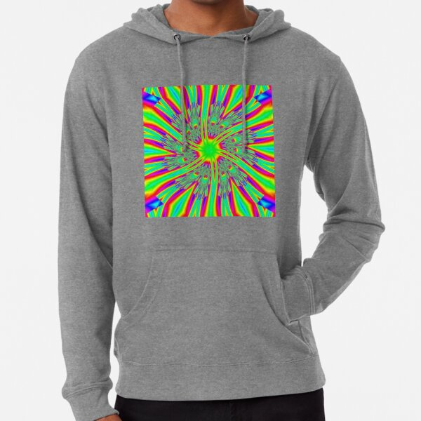 #Decoration, #abstract, #pattern, #rainbow, ornate, shape, textile, color image, textured, retro style, styles Lightweight Hoodie