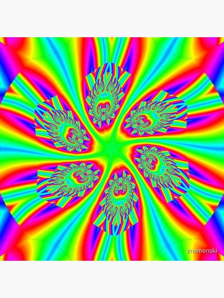 #Rainbow, #ornate, #shape, #textile, color image, textured, retro style, styles by znamenski