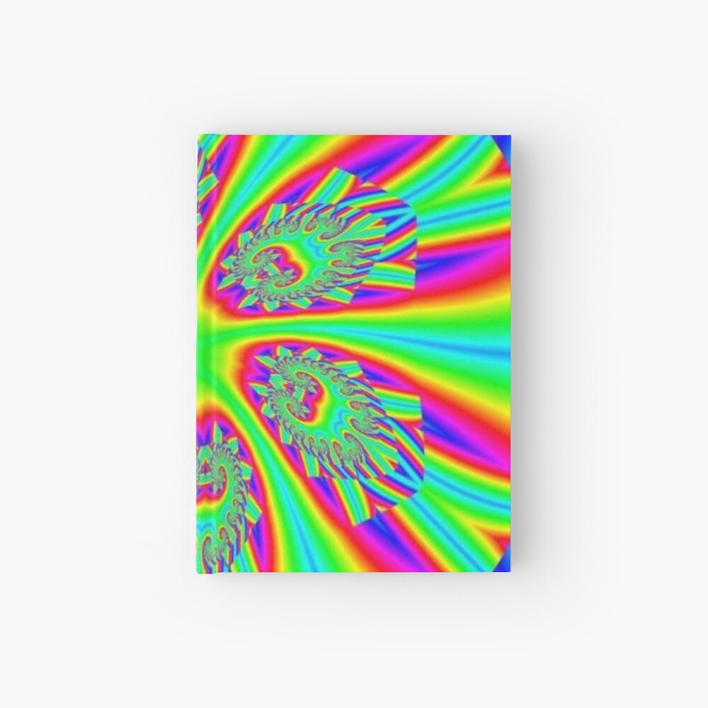 #Rainbow, #ornate, #shape, #textile, color image, textured, retro style, styles Hardcover Journal