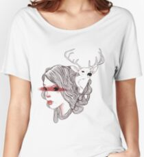 deer girl Women's Relaxed Fit T-Shirt