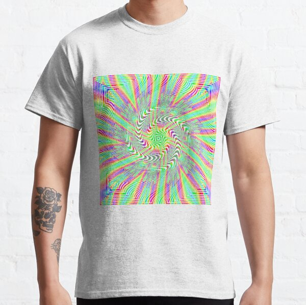 #Pattern, #abstract, #design, #twist, art, illustration, decoration, shape, creativity, upwards, convex, curvy Classic T-Shirt
