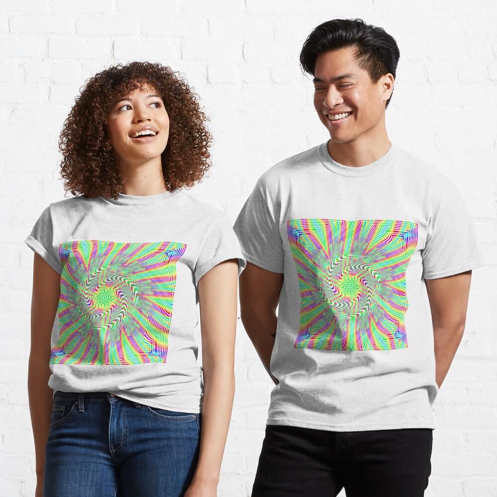 #Pattern, #abstract, #design, #twist, art, illustration, decoration, shape, creativity, upwards, convex, curvy Classic T-Shirt