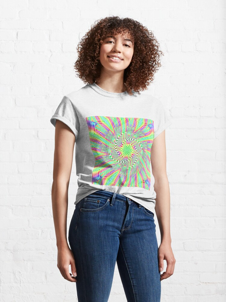 Alternate view of #Pattern, #abstract, #design, #twist, art, illustration, decoration, shape, creativity, upwards, convex, curvy Classic T-Shirt