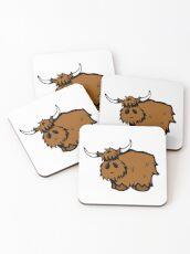 Heilan' Coo Coasters