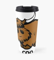 Heilan' Coo - with text Travel Mug