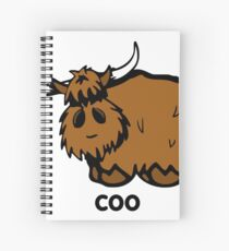 Heilan' Coo - with text Spiral Notebook