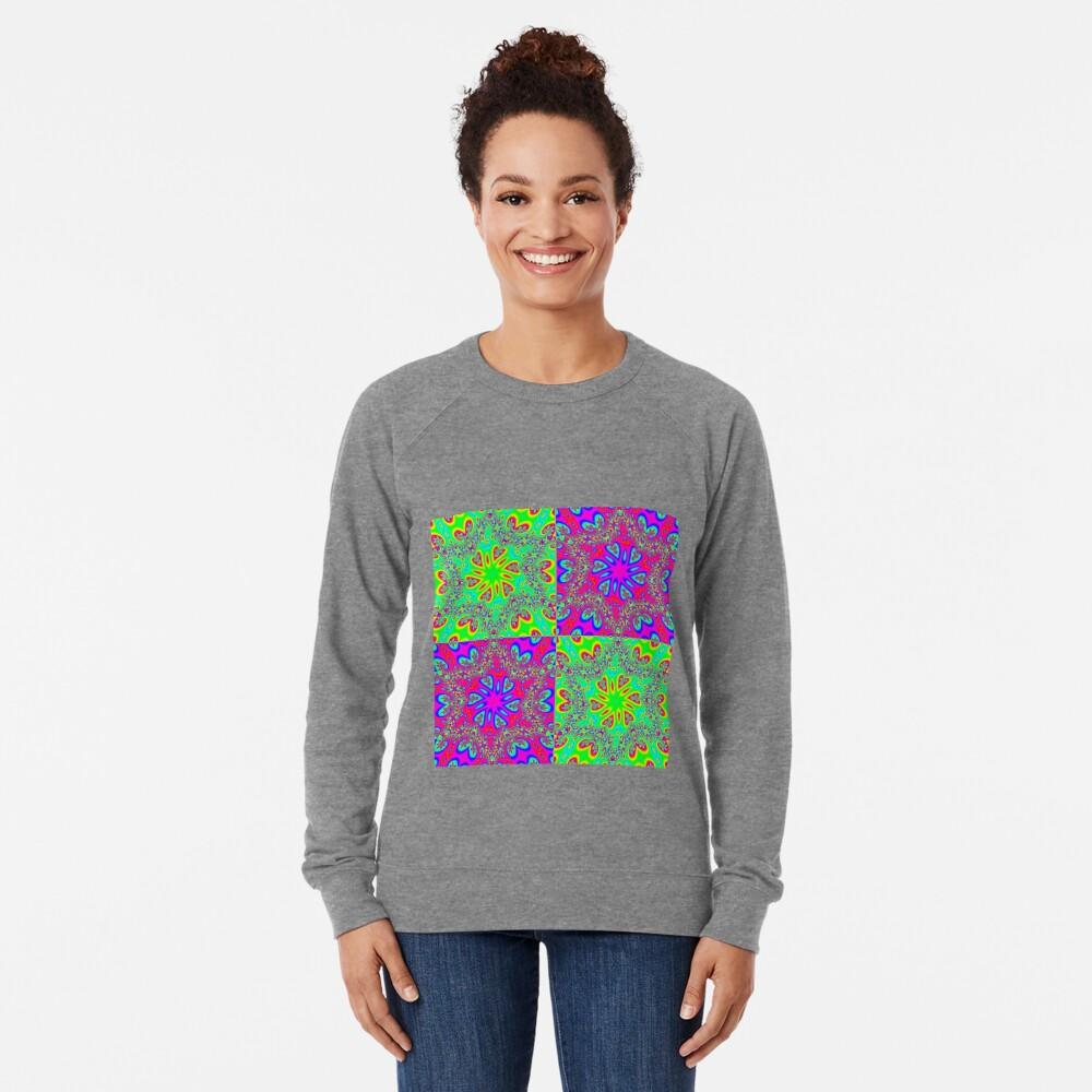 #Abstract, #pattern, #design, #rainbow, ornate, shape, textile Lightweight Sweatshirt