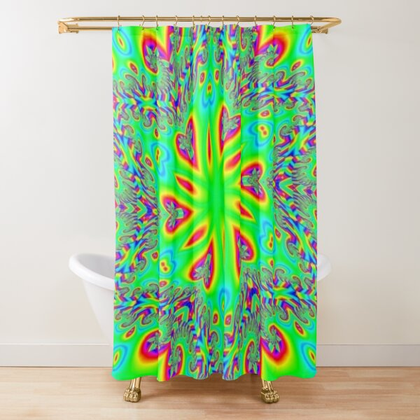 #Abstract, #design, #twist, #art, illustration, decoration, shape, creativity, upwards, convex, curvy Shower Curtain