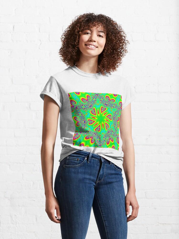 Alternate view of #Abstract, #design, #twist, #art, illustration, decoration, shape, creativity, upwards, convex, curvy Classic T-Shirt