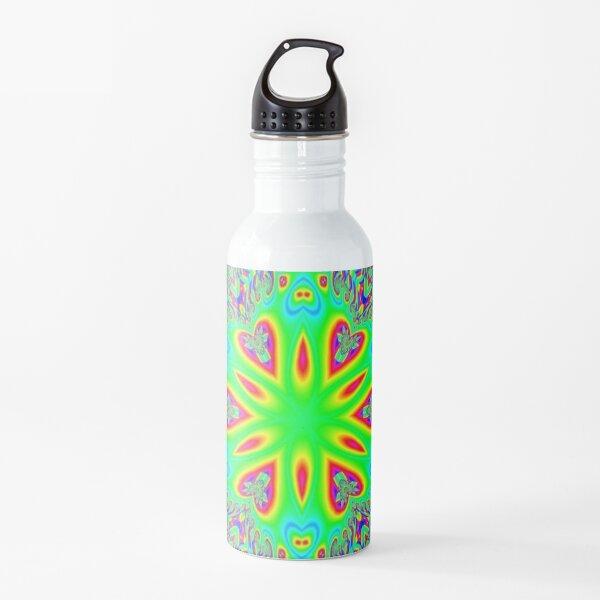 #Pattern, #abstract, #design, #twist, art, illustration, decoration, shape, creativity, upwards, convex, curvy Water Bottle