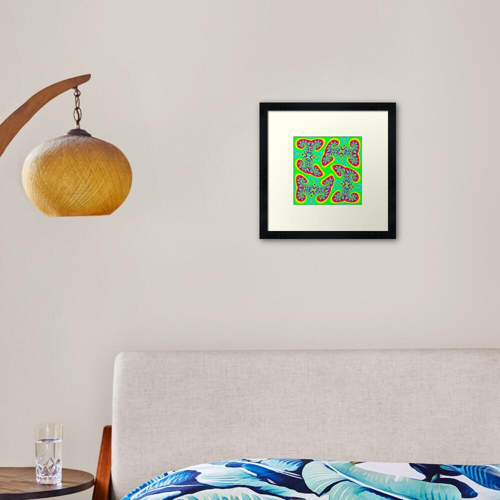 #Decoration, #art, #illustration, #abstract, pattern, design, vector, rainbow, ornate, shape, textile Framed Art Print
