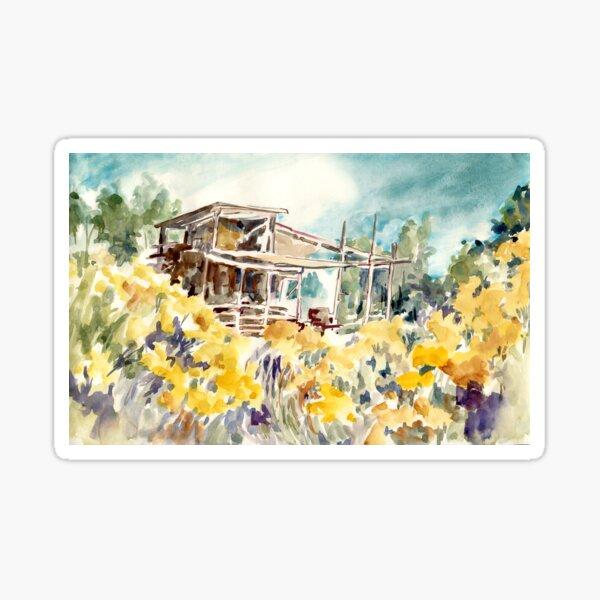 Watercolor Cottage No. 1 Sticker