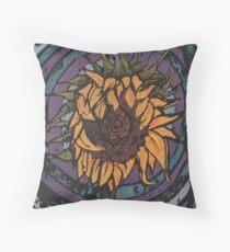 Batik Sunflower (Original Version) Throw Pillow