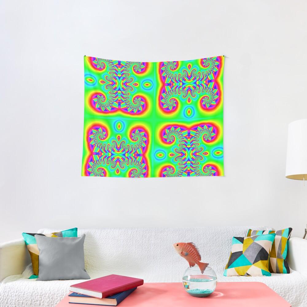 #Art, #illustration, #decoration, #shape, creativity, upwards, convex, curvy Tapestry
