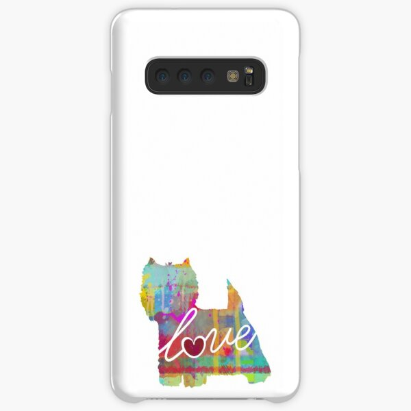 West Highland Terrier Love - A Bright and Colorful Watercolor Style Gift Samsung Galaxy Snap Case