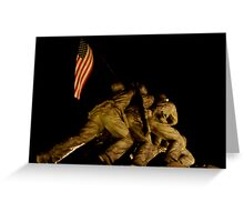 Iwo Jima at Night Greeting Card