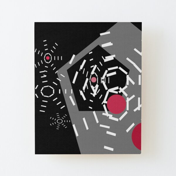 Alarm Bells Geometric Abstraction Print by Jenny Meehan  Wood Mounted Print