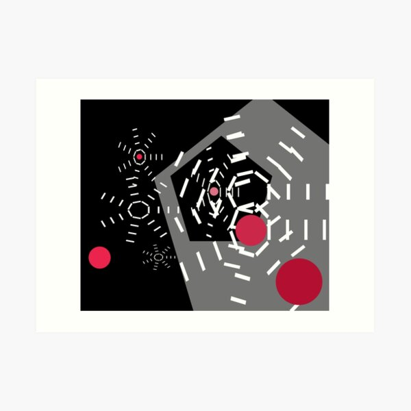 Alarm Bells Geometric Abstraction Print by Jenny Meehan  Art Print