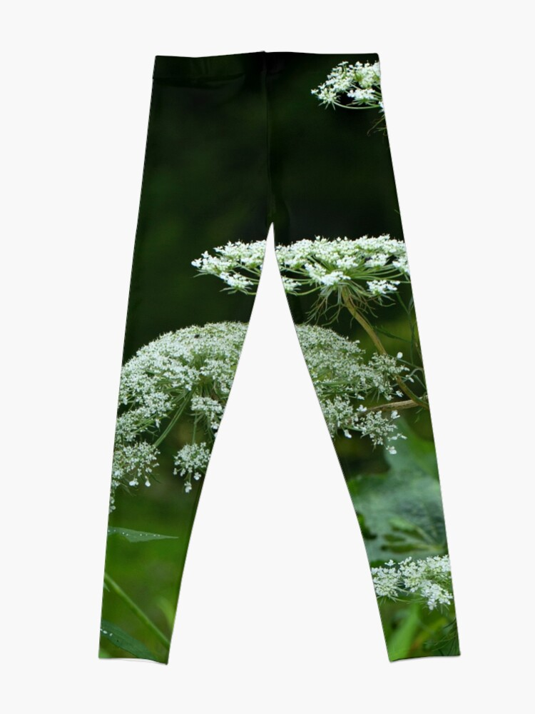 Alternate view of Queen Anne's Lace Wildflower - Daucus carota Leggings