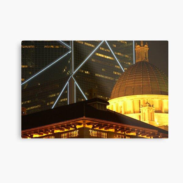 Bank of China and Colonial Building, Hong Kong Metal Print