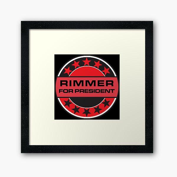 Rimmer For President Framed Art Print