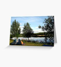 Camping, Ivalo, Lapland, Finland Greeting Card